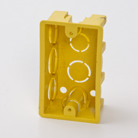 Yellow Outlet Box 4x2