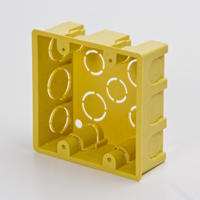 Yellow Outlet Box 4x4