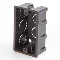 Black Outlet Box 4x2